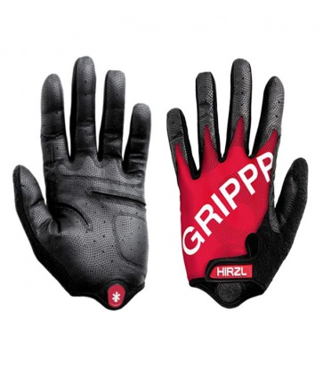 Hirzl grippp cycling gloves tour ff kangaroo long fingers Red