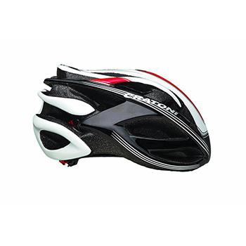CRATONI BULLET BLACK/WHITE/RED ROAD HELMET