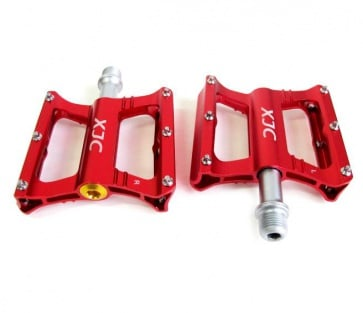 JC XJC flat Pedals C Type Sealed Bearing Aluminum Red