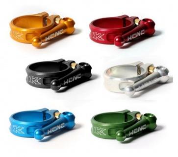 KCNC flip quick release seat clamp 36.9mm 6 colors