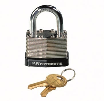KRYPTONITE LAMINATED STEEL KEY PADLOCK 45mm
