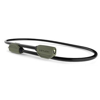 HIPLOK POP WEARABLE 1.3m STEEL CABLE LOCK GREEN