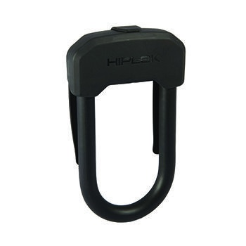 HIPLOK D 13mm WEARABLE LOCK w/ CLIP BLACK