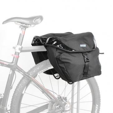 Lotus Bicycle Rear Rack Pack Black Edition 25L Panniers