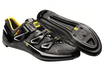 Mavic Huez Road Bike Shoes Black White Yellow