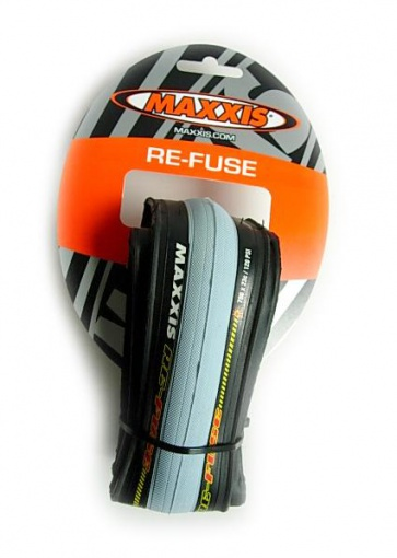 Maxxis ReFuse Road Bicycle Tyre Tire 700x23c Gray