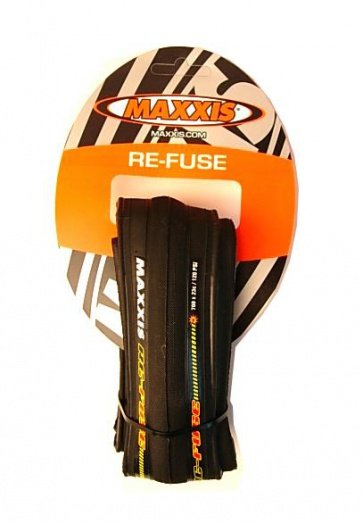 Maxxis ReFuse Road Training Bicycle Tire 700x23c Black