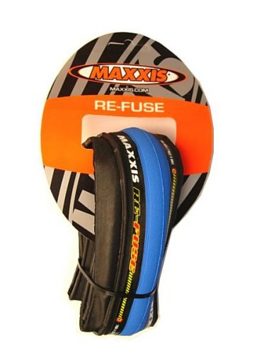 Maxxis ReFuse Road Training Bicycle Tire 700x23c Blue