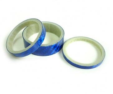 Mr.Control carbon head spacer set 3 5 10mm blue carbon