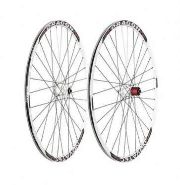 Novatec Dragon MTB wheelset white 26inch