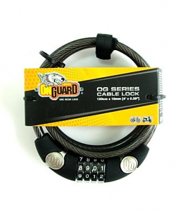 Onguard OG 4digit cable lock bike bicycle 10x1200mm 5805