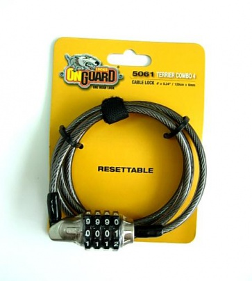 OnGuard Terrier Combo4 bicycle lock 4 digit 5061