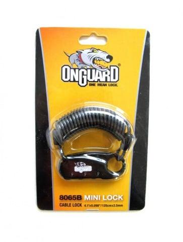 OnGurad 8065 3digit Mini Cable Lock 2.5x1200mm