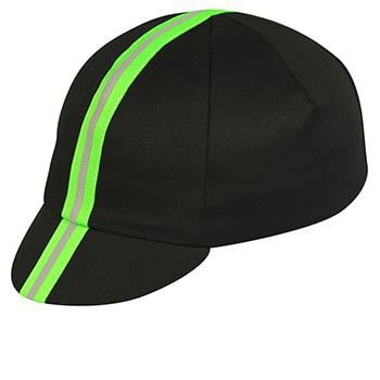 Pace Cotton Cap Traditional Black Neon Green Reflective