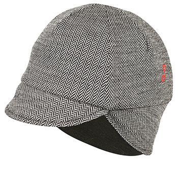 Pace Reversible Wool Hat Black Mini Herringbone