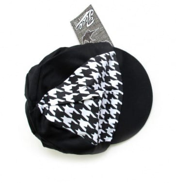 Pace Traditional Houndstooth Mini B W Cycling Cotton Cap