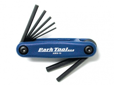 Parktool AWS-10 Fold up hex wrench set bicyce