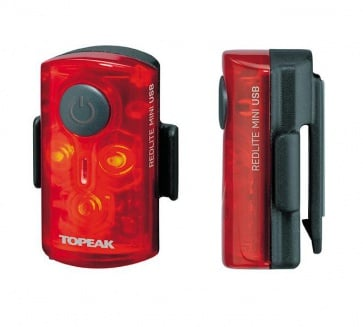 Topeak RedLite Mini USB Bicycle Rear LED Lamp TMS078