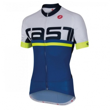Castelli META Jersey FZ Short Sleeves Blue White