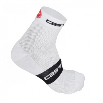 Castelli Free 6 Socks White Black