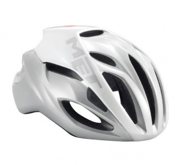 Met Rivale Road Bike Helmet White Silver