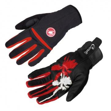 Castelli Cromo Windstopper Woman Gloves Black-Red