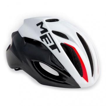 Met Rivale Road Bike Helmet White Black Red