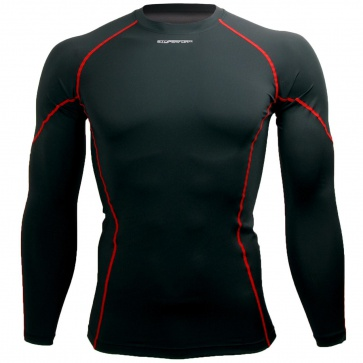 Btoperform Basic BaseLayer Compression MMA Sport Jersey Red Line
