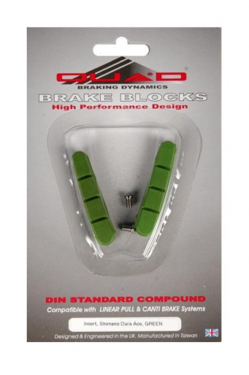Quad Dura-Ace V brake Shoes Pads Road Bike Green