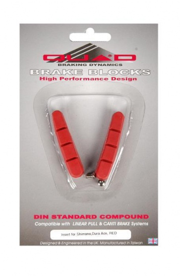 Quad Dura-Ace V brake Shoes Pads Road Bike red