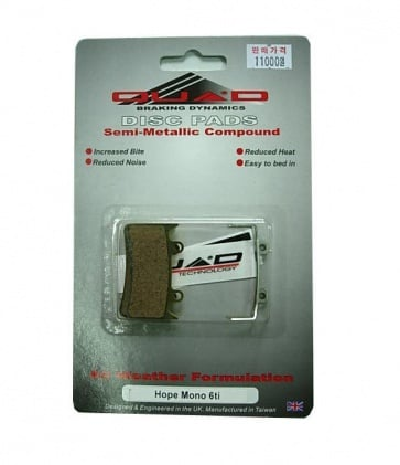 Quad Hope Mono 6Ti Disc Brake Pads Shoes QDP-42