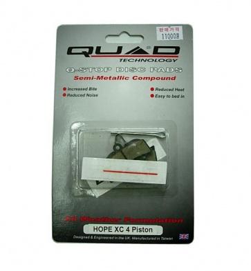 Quad Hope XC 4 Piston Disc Brake Pads Shoes QDP-31