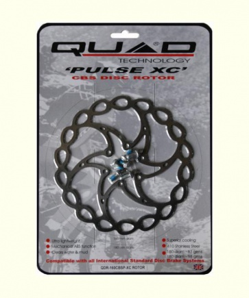 Quad Pulse XC Mountain Bike Disc Brake Rotor 160mm