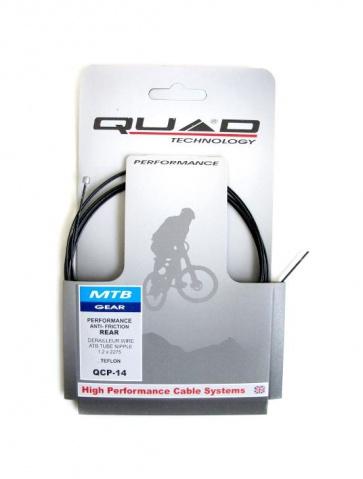 Quad QCP-14 Teflon Coating Derailleur Inner Cable MTB 1.2x2275mm