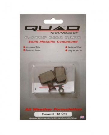 Quad QDP-49 formula the one semi metalic pads shoes disc brake