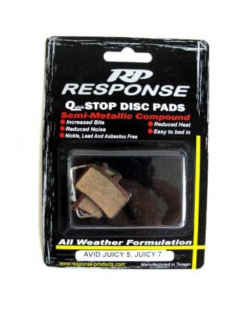 Response Avid Juicy 5 7 Disc Brake Pads Semi Metallic