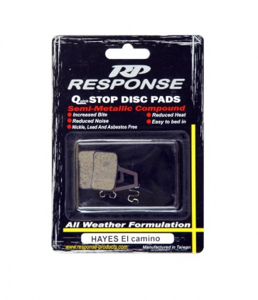 Response Hayes El camino Disc Brake Pads Semi Metallic