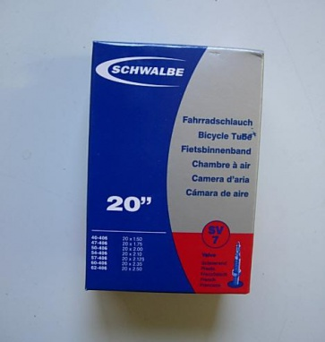 Schwalbe SV7 bicycle inner tube 20x1.5~2.5 406