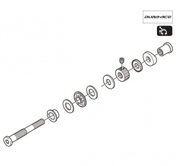 Shimano BR-7800 Front Pivot Bolt Assembly 10.5mm