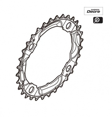 Shimano Chainring 32T FC-M532 Silver Y1J898070