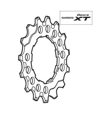 Shimano CS-M760 Sprocket Wheel 15T Y1ZA15451
