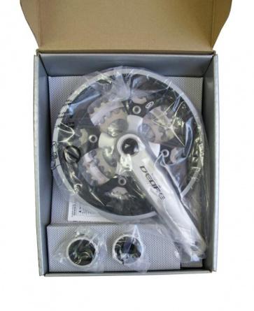 Shimano Deore FC-M590C crankset 48T silver chain gurad