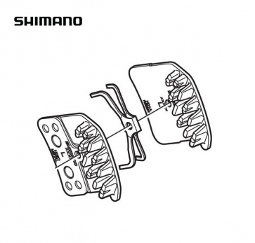 Shimano Disc Brake Pads BR-M820 Resin H01A Y8VT98010