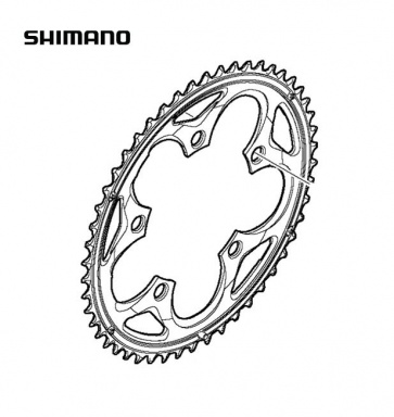 Shimano FC-5750 50T Compact Chainring Silver Y1M598010
