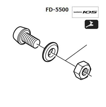 Shimano FD-5500 Cable fixing bolt Y59G98010
