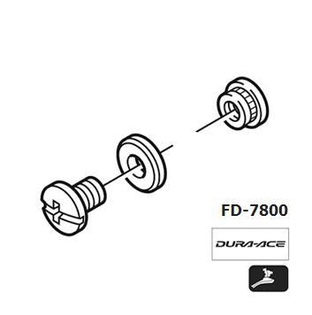 Shimano FD-7800 Chain guide fixing bolt Y5HX98020