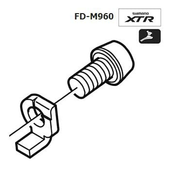 Shimano FD-M960 Cable Fixing Bolt and Flat Y5HE98010