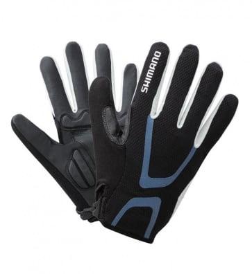 Shimano Light Gloves Long Finger Bicycle Black Blue