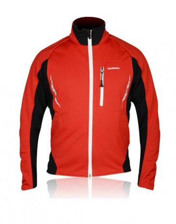 Shimano Performance Winter Cycling Jacket WIndstop Red