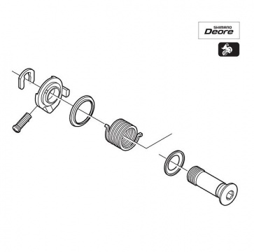 Shimano RD-M530 B Axle Assemble Part Y5VM98010